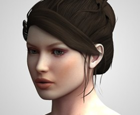 Updo hairstyle for Victoria