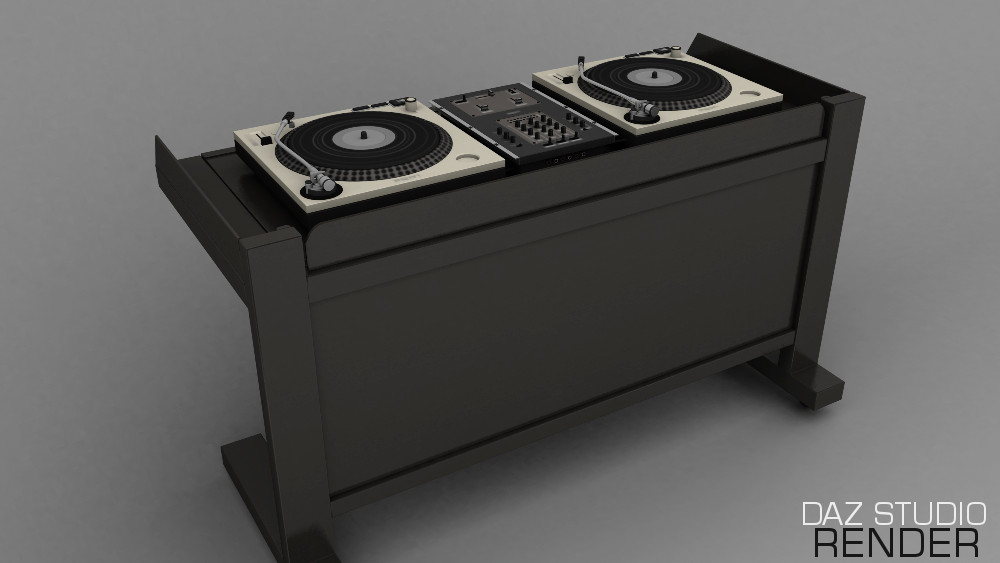 3D DJ Desk For Daz Studio Poser