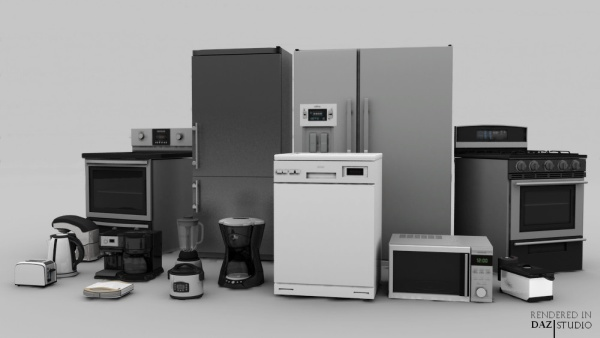 3D Kitchen Appliance Pack For Daz Studio And Poser