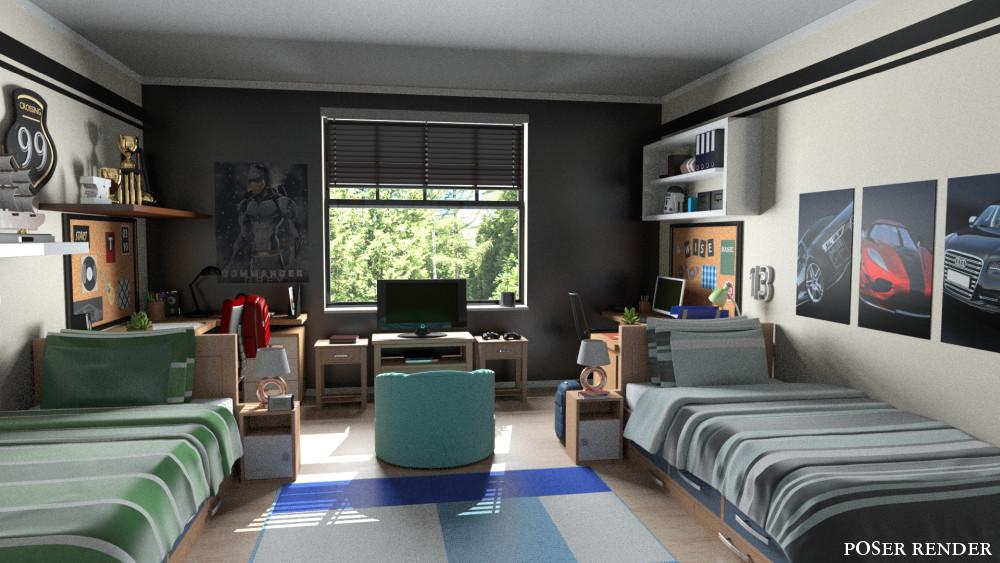 Boys Dorm Room Inlite Studio 3d Store
